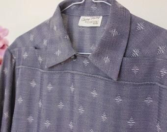 Rockabilly shirt, Casino style shirt, Vintage style shirt, men's shirt, Two tone shirt, Vintage reproduction, 1950's menswear, Size Medium