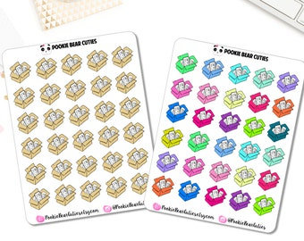 Doodled Happy Mail Package Stickers -0212