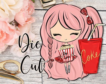 Die Cut- Cute Dolls- Movie Time