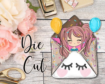 Die Cut- Cute Dolls- Yay!, Happy Mail