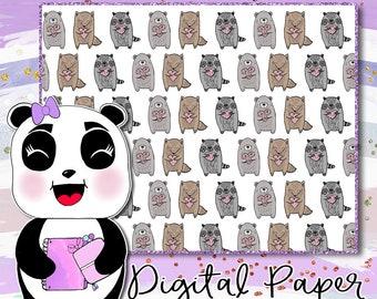 Woodland Cuties Digital Paper