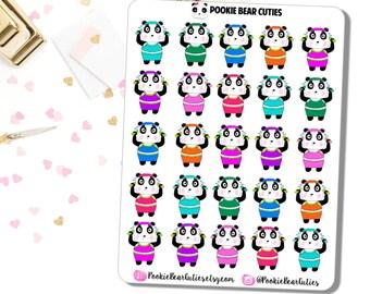 Pookie Bear Workout Stickers! 0214