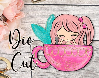 Die Cut- Cute Dolls- Coffee