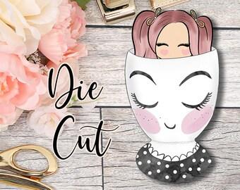 Die Cut- Cute Dolls- Peek A Boo Cup