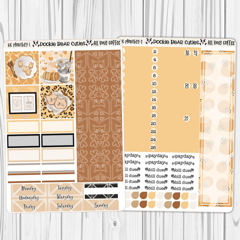 Hobonichi Cousin Monthly All Day Coffee