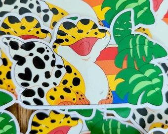 Leafy Gecko Vinyl Sticker