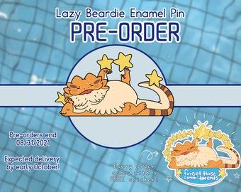 Loungin Beardie Enamel Pin **PRE-ORDER**