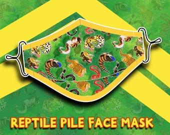 Reptile Pile Face Mask / Dust Mask / Pollen Mask