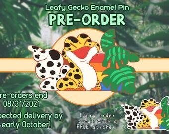 Leafy Gecko Enamel Pin **PRE-ORDER**