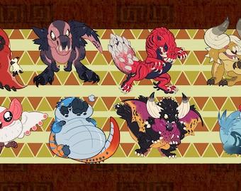 Monster Hunter World Vinyl Stickers