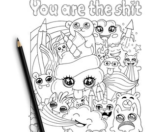 Sweary Coloring Book Digital