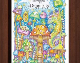 DREAMLINGS Printable Digital Coloring Book