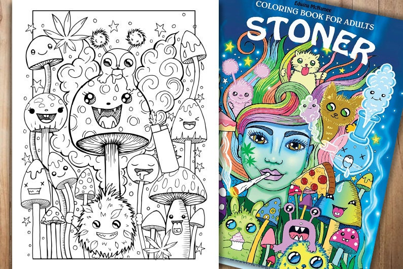 Stoner coloring page colouring page for adults Stoner | Etsy