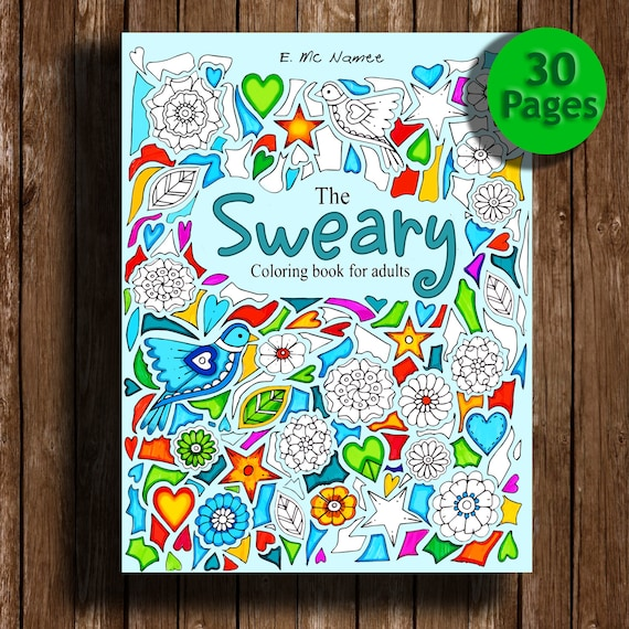 Sweary coloring book Digital download 30 PagesSwear Words | Etsy