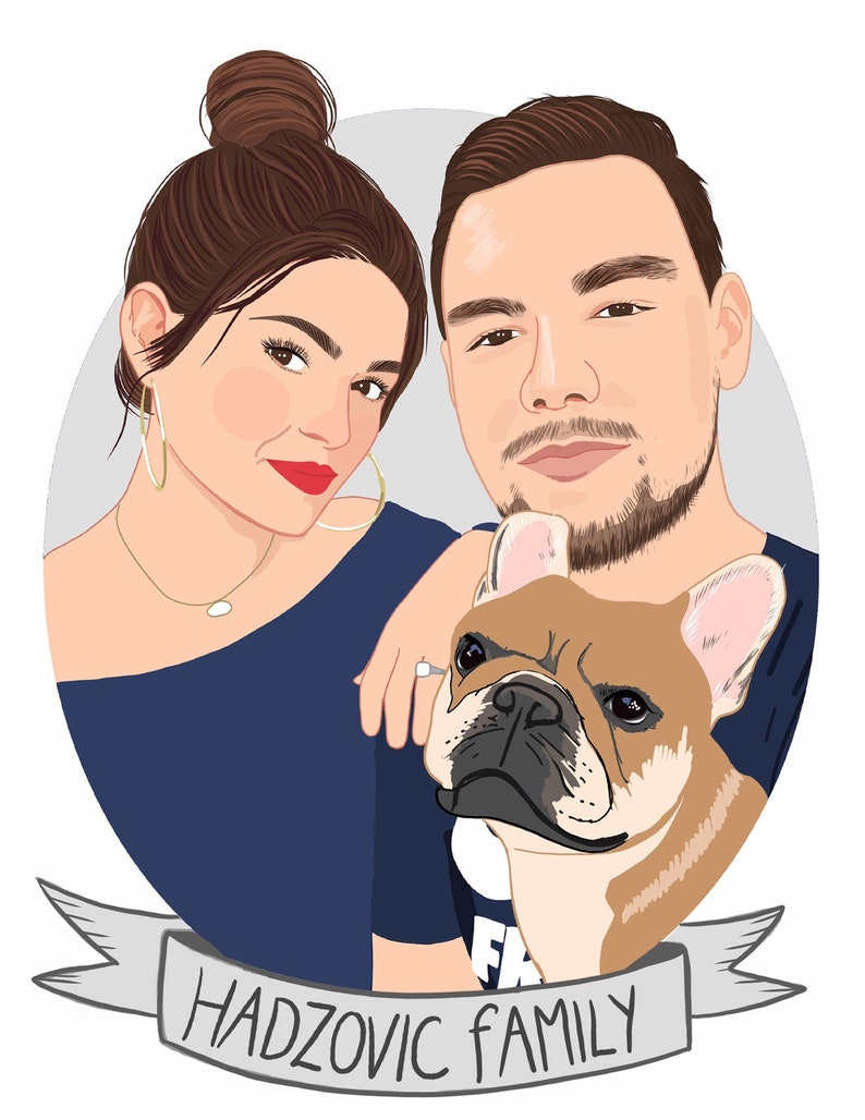 portrait illustrationcustom portrait of couple Custom couple image 0