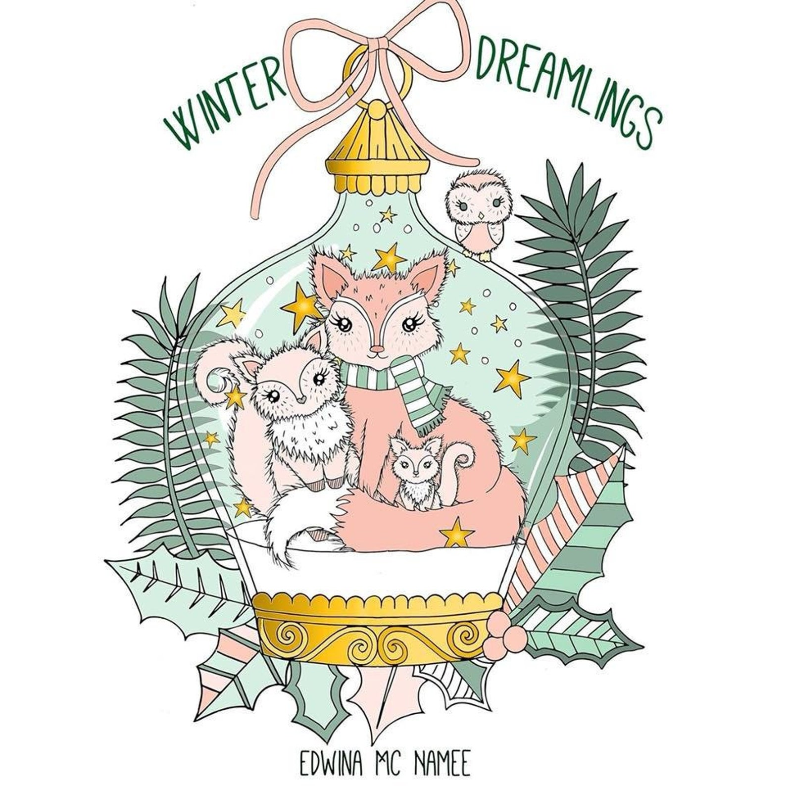 WINTER DREAMLINGS by Edwina McNamee Christmas Coloring Pages on Etsy