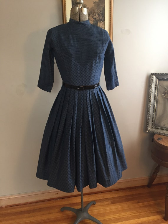 1950's L'AIGLON Dress in shades of Blue