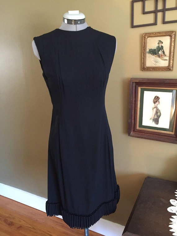 1960's Shannon Rodgers Classic Cocktail Black Dres