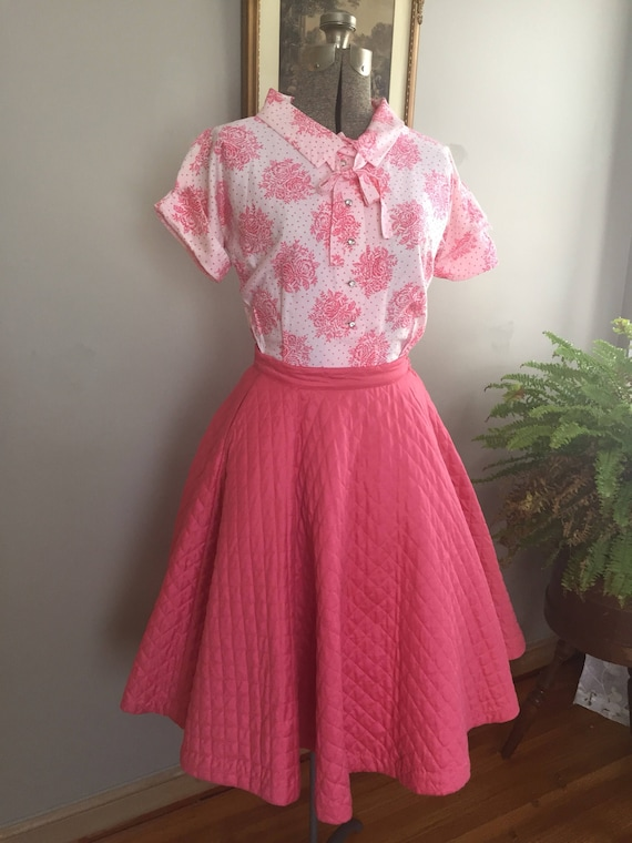 1950's Bobbie Brooks Quilted Circle Skirt and Matc