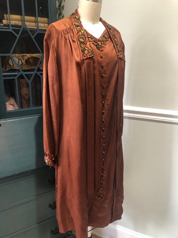1920s Silk Day Dress