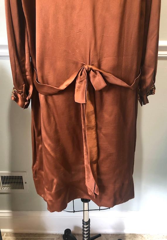 1920s Silk Day Dress - image 4
