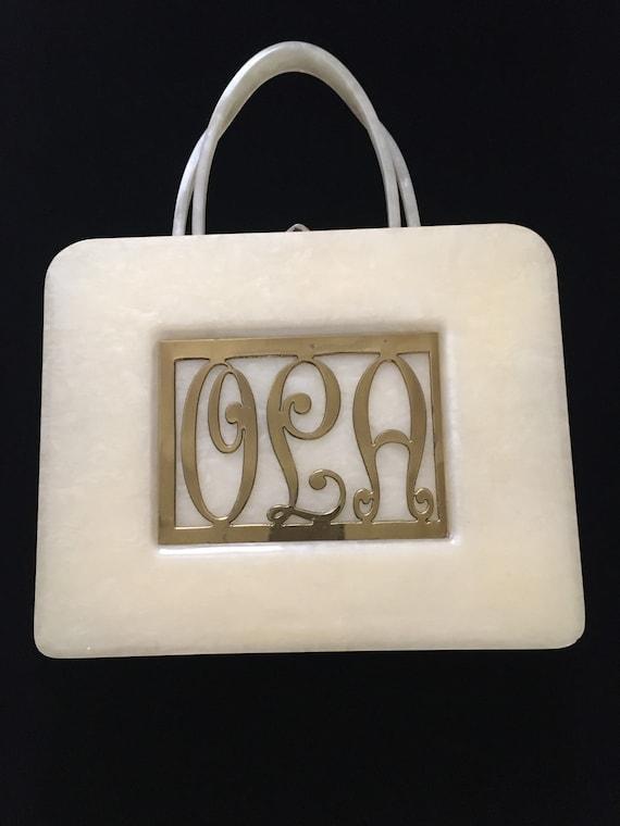 Original 1950s large sized lucite purse/Bag