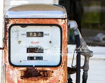 Cheap Gas 2, Gas Pump, Abandoned Gas Station, Rural, Fine Art Photography, Fine Art Print