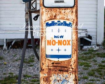 Cheap Gas 1, Gas Pump, Rusted, Rural Decay, Fine Art Photography, Fine Art Print, Wall Art