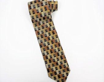 Orange Diagonal Stripes Silk Tie by Valerio Garati Business Tie Gift for Him Boss 90s Y2K 70s 80s Style Designer Menswear Father/'s Day