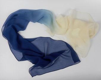 Blue White Scarf Etsy