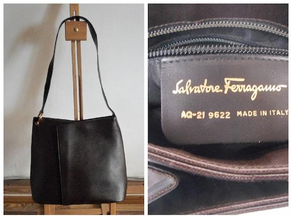 Salvatore Ferragamo Brown Leather Bag, Ferragamo S