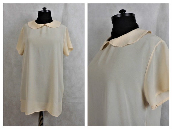 Peter Pan Collar Silk Blouse