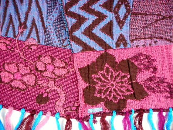 Kenzo  Scarf  Wool and Angora Colorful  Fringed L… - image 3