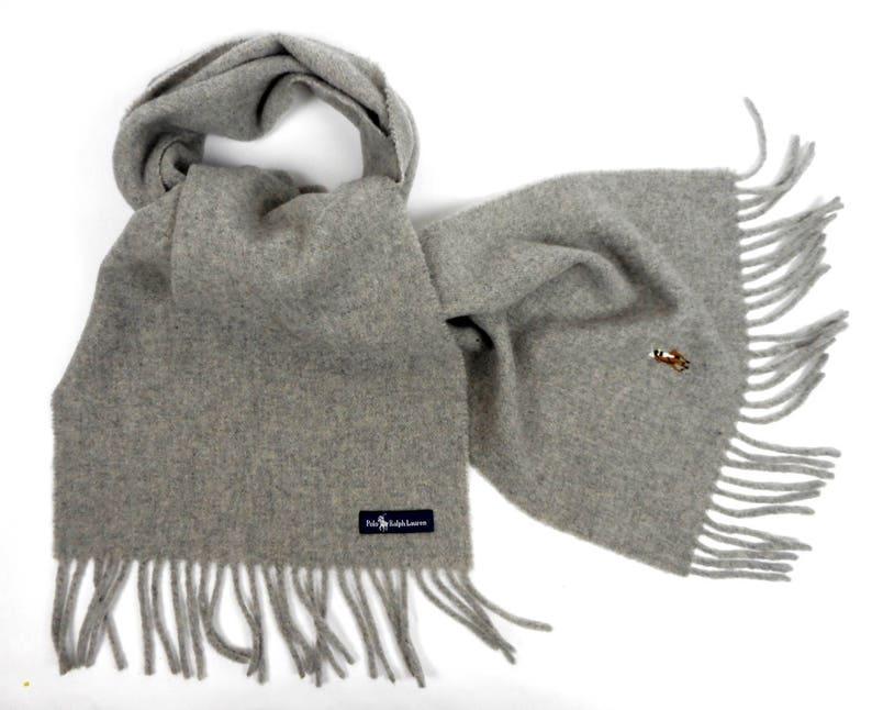 1e959a2c985 Foulard vintage de Polo Ralph Lauren longue écharpe en laine