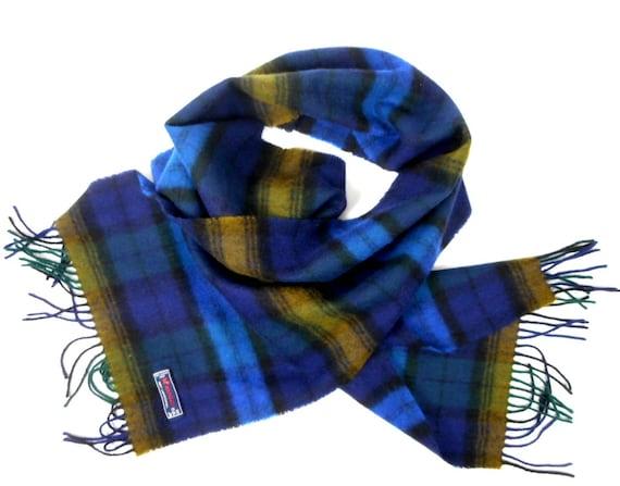 Tartan wool scarf, Hemley scarf, plaid lambswool s