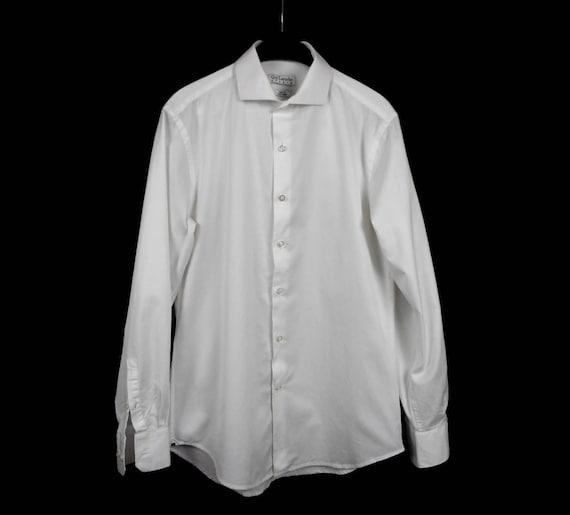 Guy Laroche Studio Shirt, Cotton White Shirt, Mens Button Down Shirt, Long Sleeve, Size 40