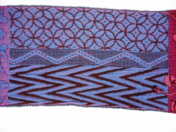 Kenzo  Scarf  Wool and Angora Colorful  Fringed L… - image 7