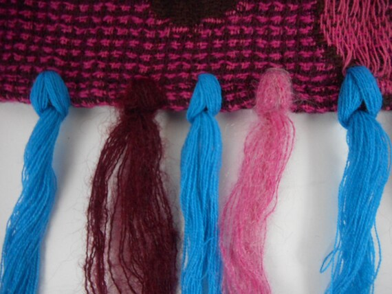 Kenzo  Scarf  Wool and Angora Colorful  Fringed L… - image 9