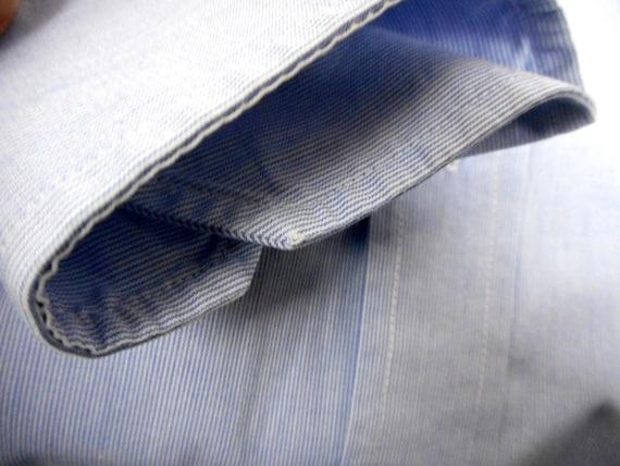 Paul R. Smith Bugelleicht Shirt, Men's Dress Shirt, Blue Cotton Shirt, Long Sleeves, Size 44