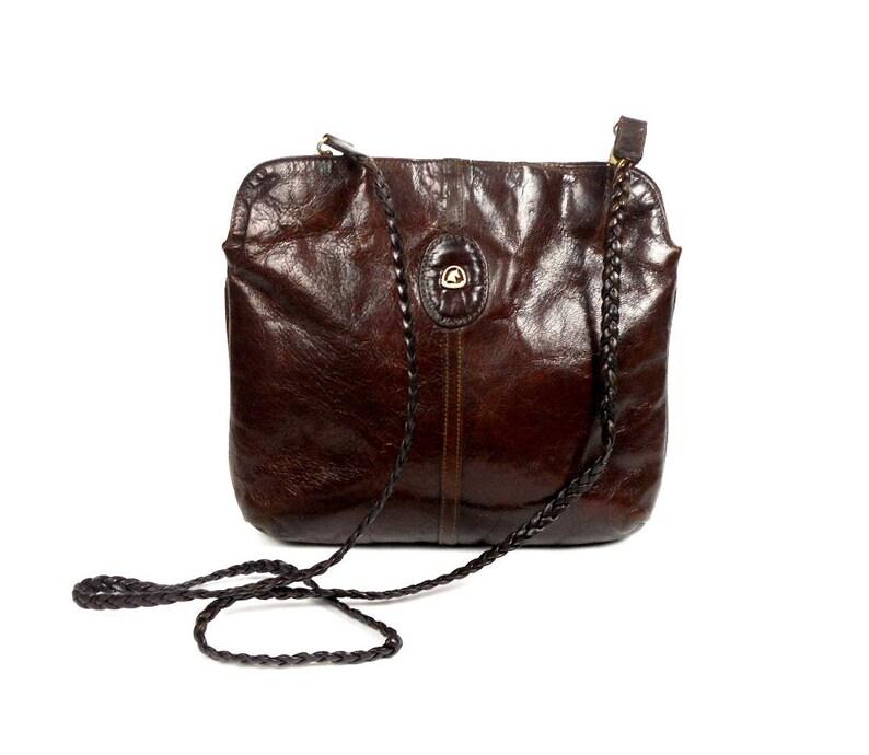 3ee3b9804fc Echte leerzak door ASTOR Brown Leather Bag Vintage handtas   Etsy