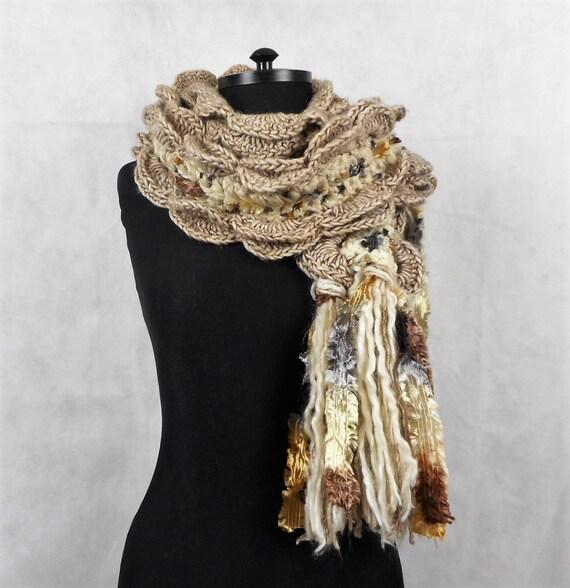 Vintage laine Echarpe Giorgio Passigatti Beige Mix châle   Etsy 9dbb26ea5f4