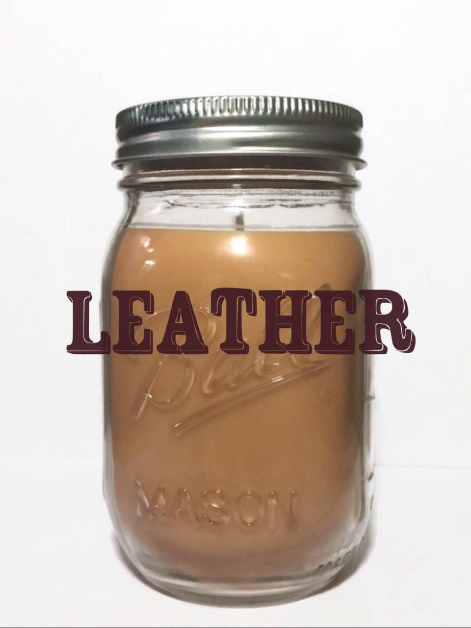 Leather Scented Premium Soy Candle