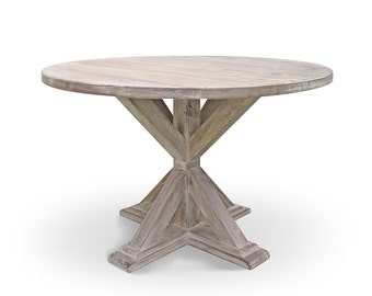 Reclaimed Wood Round Dining Table Etsy