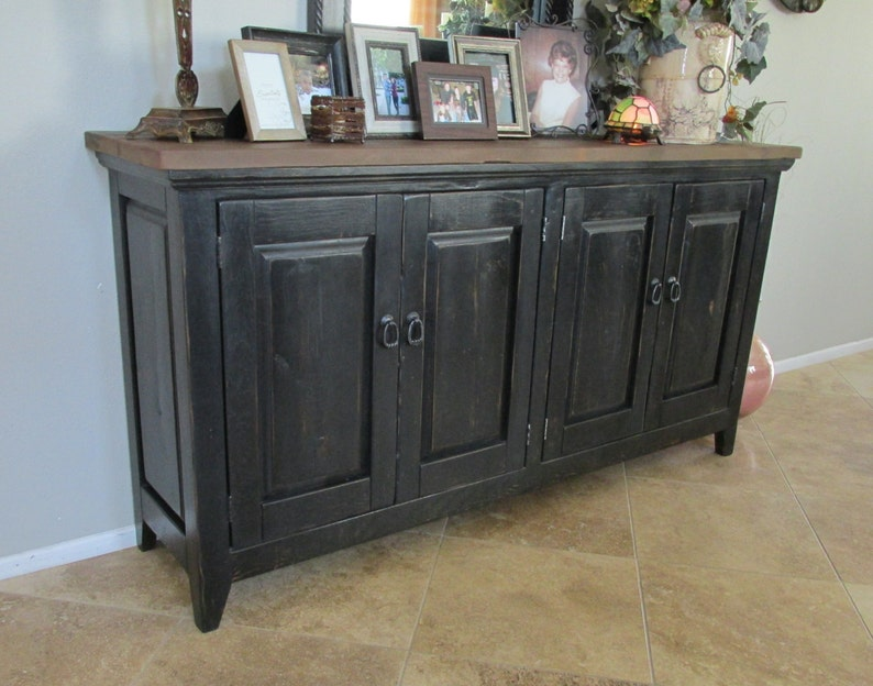 Sideboard Reclaimed Wood Entertainment Center Console Table Media Console Handmade Rustic