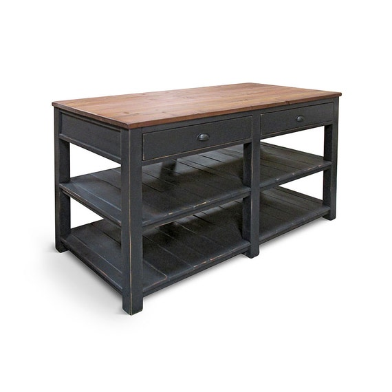 Kitchen Island Table Reclaimed Wood Kitchen Cart Rustic