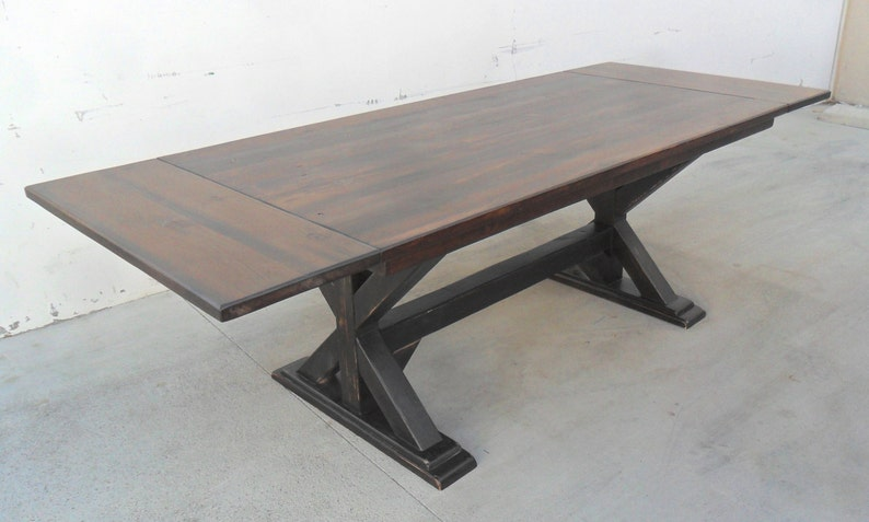Excellent 8 Ft Breadboard Extension Table Table Extension Table Dining Table Reclaimed Wood Salvaged Pine Rustic Trestle Table Handmade Download Free Architecture Designs Scobabritishbridgeorg