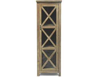 Cabinet, Bookcase, Display Cabinet, Reclaimed Wood, Handmade, Rustic