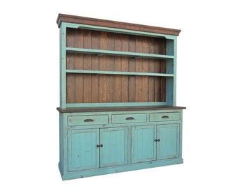 Hutch and Buffet, Sideboard, Farmhouse, Reclaimed Wood, China Cabinet, Rustic, Console Cabinet