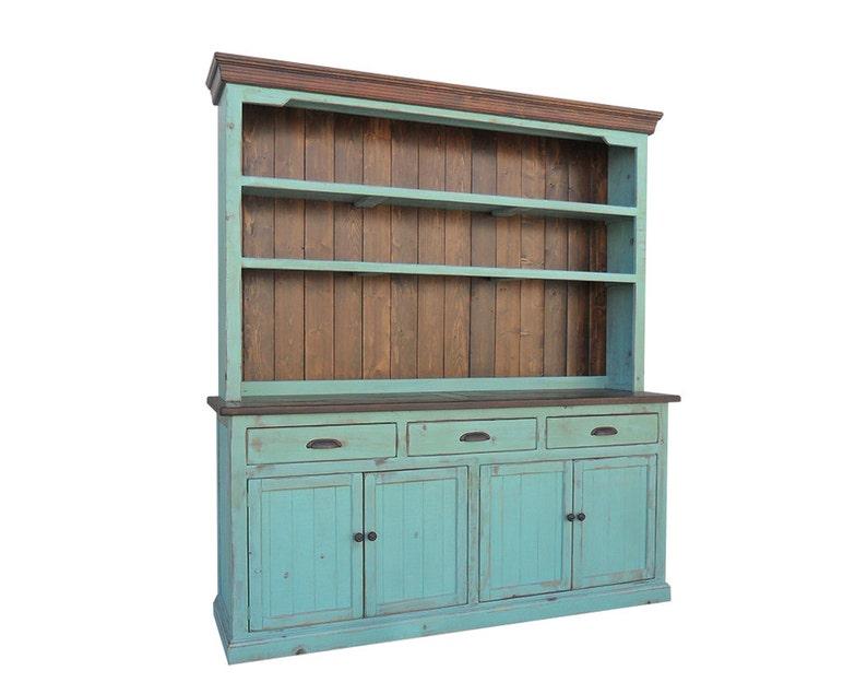hutch and buffet sideboard farmhouse reclaimed wood china etsy rh etsy com kitchen buffet sideboard hutch