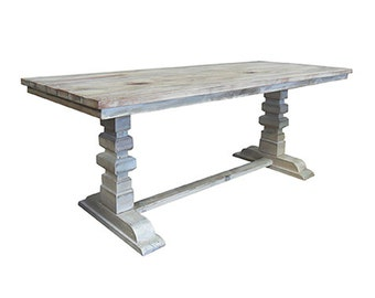 Table, Dining Table, Reclaimed Wood, Dining Table, Trestle Table, Vintage and Rustic